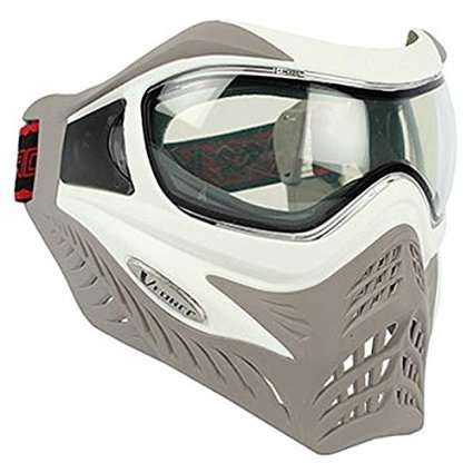 V-FORCE Grill Paintball Mask / Goggle - SE - White on Taupe