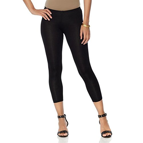 Daisy Fuentes Jersey Stretch Cropped Legging Elastic Waist Black 3X New 543-860
