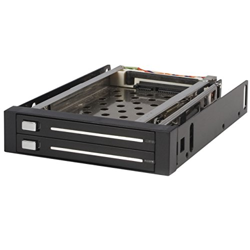StarTech.com 2 Drive 2.5in Trayless Hot Swap SATA Mobile Rack Backplane - Dual Drive SATA Mobile Rack Enclosure for 3.5 HDD ()