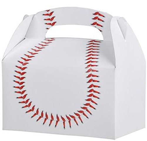 24 BASEBALL TREAT BOXES 2 DOZEN BY DISCOUNT PARTY AND NOVELTY