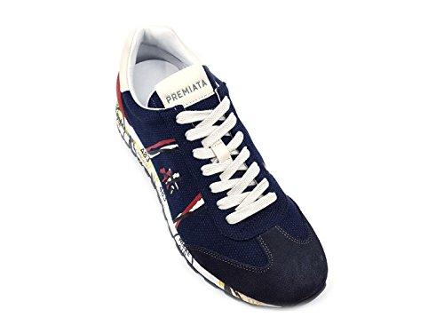 PREMIATA Lucy 2804 Sneaker Uomo Tessuto Blu Jeans MainApps Blue