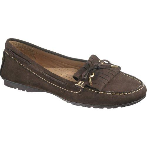 Sebago Women's Meriden Kiltie Oxford, Dark Brown Leather, 7 M US