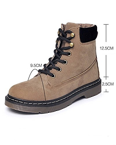 Fashion Outdoor Lace Vintage Khaki Ladies Walking Up Winter Casual Hiking Maybest Warm Boot Women Booties Combat Shoes Ankle PnwApxXSq