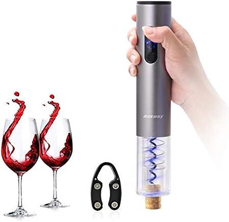 Funcionamiento sin cables: Funciona con 4 pilas AA (no incluidas), se abre hasta 80 botellas,Durabil