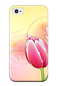 High Impact Dirt Shock Proof Case Cover For Iphone 4/4s Flower