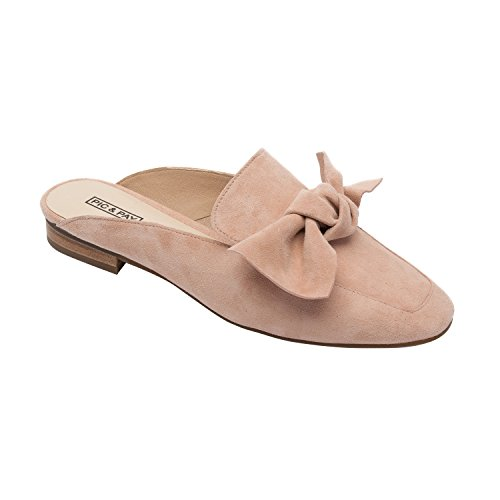 PIC/PAY Dakota | Women's Bow Adorned Slip-On Comfortable Loafer Mule Blush Suede 10M