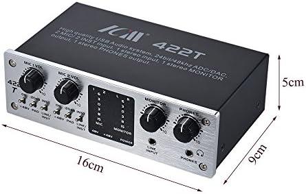 ammoon interfaz del sistema audio ICM 422T 4 canales USB Tarjeta ...