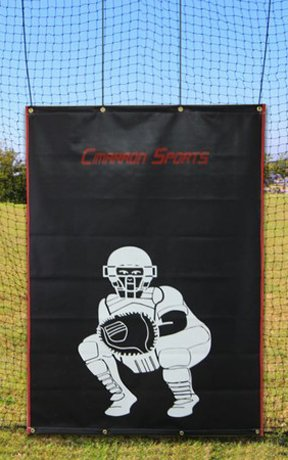 Cimarron Sports Vinyl Backstop with Catcher Image - 4'x6' by Cimarron Sports