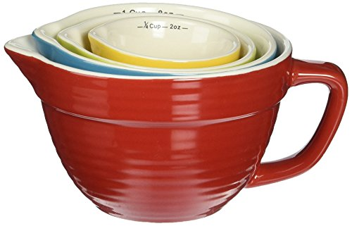 Creative Co op Stoneware Batter Bowl Multicolored
