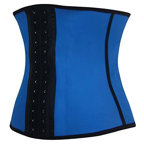 Shaperdiva Women's Sport Latex Girdle Waist Training Corsets Steel Boned Waist Shaper (S/Waist:20