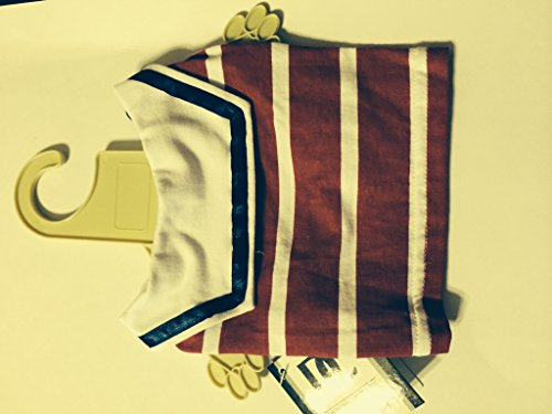 Dickens' Closet Nautical Red Striped Sailor Top
