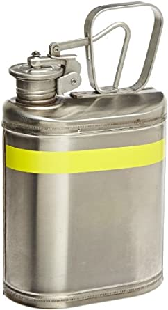 """Eagle 1301 Laboratory Safety Can, Stainless Steel, 6"""" Width x 13"""" Height x 8"""" Depth, 1 Gallon Capacity"""