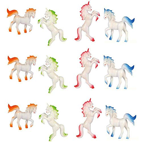 - Kicko Mini Unicorns - Pack of 12 Cool and Fun Assorted Color Vinyl Animal Figures - Ideal Gift, Party Favor, Stocking Stuffer, Cake Toppers, Home Decor, Bathtub Accessory, School Props