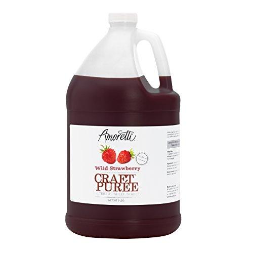 (Amoretti Puree Craft, Wild Strawberry, 9 Pound)