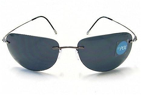 4770a45e94 SILHOUETTE 8623 Titan X 6130 Aviator Polarized Gray Sunglasses   Amazon.co.uk  Clothing