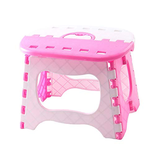 ASOSMOS Folding Step Stool Plastic Anti Slip Foldable Stepping Footstool Lightweight Camping Picnic Kitchen Portable for…