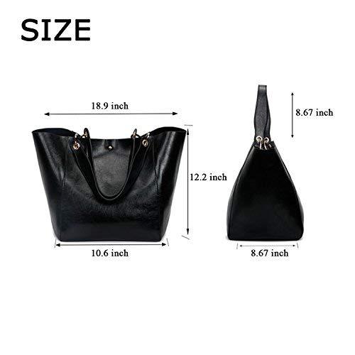 Ephraim Handbags for Women Leather Handbags+Tote Bag+Purse+Card Holder 4pcs Set Shoulder Bag