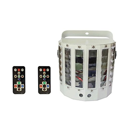 Auto Effect Sound Control Stage Light, 27W RGBW Wide Beam DMX 9LED Color 14 Patterns Strobe Flash Light, Xmas DJ Disco Dance Wedding Bar Club Laser Butterfly Party Remote control(White) Lifego by Lifego