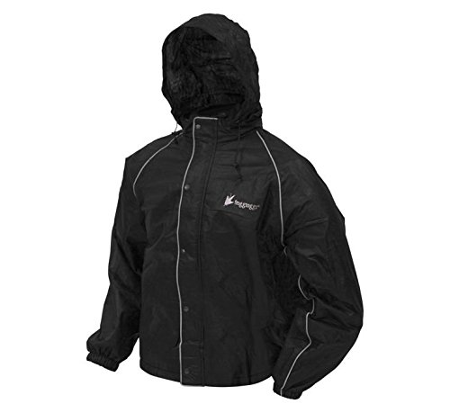Frogg Toggs FT63133-01-3XL Road Toad Rain Jacket, Size: 3XL, Distinct Name: Black, Gender: Mens/Unisex, Primary Color: Black