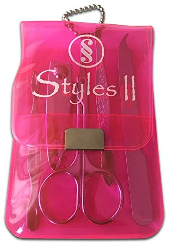 Styles-II-Manicure-Set-Pink-Styles-II-Mojo-Massager-10-Pulsation-Speed-Hand-Held-Massage-Great-At-Home-for-Neck-Back-Shoulder-Waist-Feet-Suitable-for-All-Satisfaction-Guaranteed