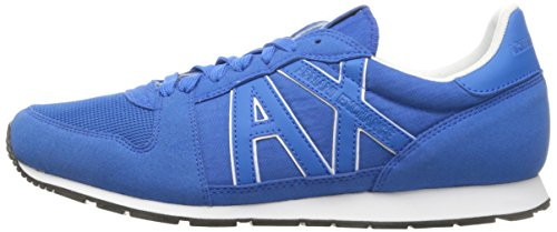 A|X Armani Exchange Men's Retro Running Fashion Sneaker, Lapis Blue/Cobalt, 7 M US Photo #3