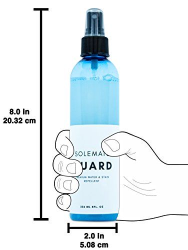 Solemate Guard - Premium Water & Stain Repellent - Waterproof and Protect Suede, Leather, Nubuck, Fabric, Nylon, Polyester & More - Sneakerhead Protector for All Sneakers, Shoes, Boots, Accessories by Solemate (Image #5)