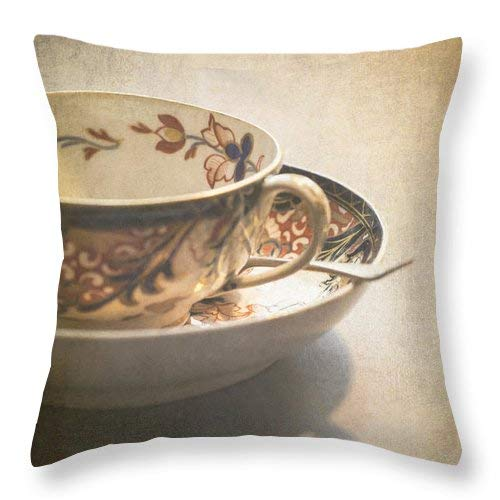 Imari Cup and Saucer Throw Pillow Cover Square Pillow Case Cover Couch Pillow Case Cover Cotton 18x18 Inch