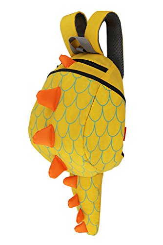 ZHUANNIAN Kids Toddlers Dinosaur Backpack with Safety Leash for Boys Girls(Yellow) (Toddler Back With Leash)
