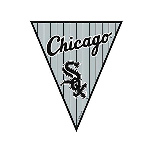 Amscan Timeless Chicago Sox Major League Baseball Pennant Banner, 12', White/Black