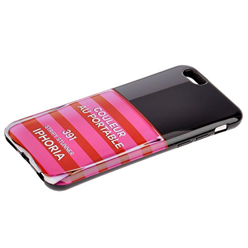 IPHORIA iPhone 6/6s Case Handyhülle Streifen STRIPY STUNNER Rosa Rot