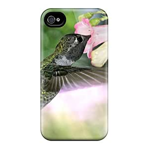 Hot Design Premium GvgQlln7481wsAjJ Tpu Case Cover Iphone 4/4s Protection Case(hungry Hummingbird)
