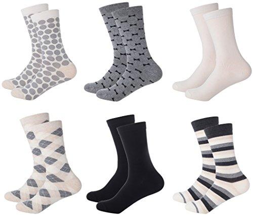 Mio Marino Women's Dress Crew Socks Casual Cotton 6 pk, 12 pk