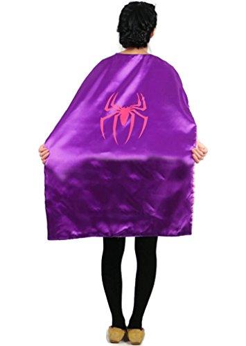 [Rush Dance Deluxe Comics Teen or Adult Satin Unisex Super Hero save the day CAPE (Spidergirl)] (Disneyland Peter Pan Costume)