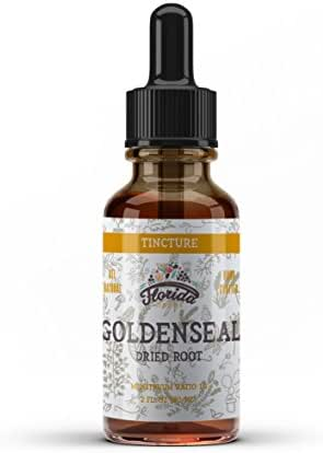 Goldenseal Root Tincture, Organic Goldenseal Extract (Hydrastis Canadensis) Antioxidant Extract for Immune Support, Non-GMO in Cold-Pressed Organic Vegetable Glycerin 4 oz, 680 mg