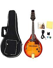 Mandolin Instrument, 8 String Mandolin Musical Instrument Sunburst A Style Acoustic Electric Mandolin