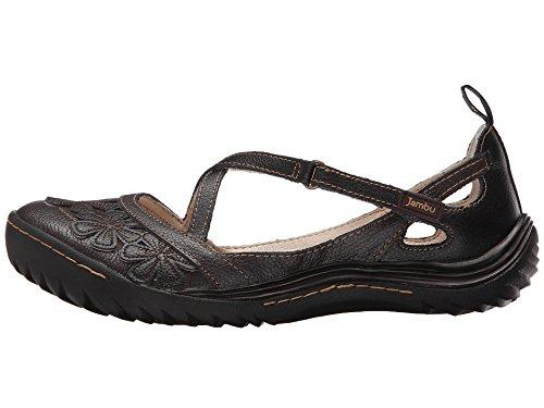 Jambu Women's Blossom Encore Flat, Black Earth, 7 M US (Earth Shoes Mary Jane)