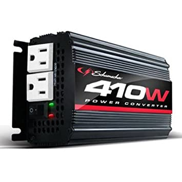 Schumacher XI41B /'X-Line/' 410W Power Inverter with Battery Clamps and 12V Male..