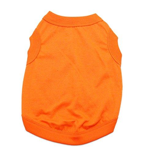 Barking Basics Dog Tank Shirt, Medium, Orange (Five Barking Dogs)