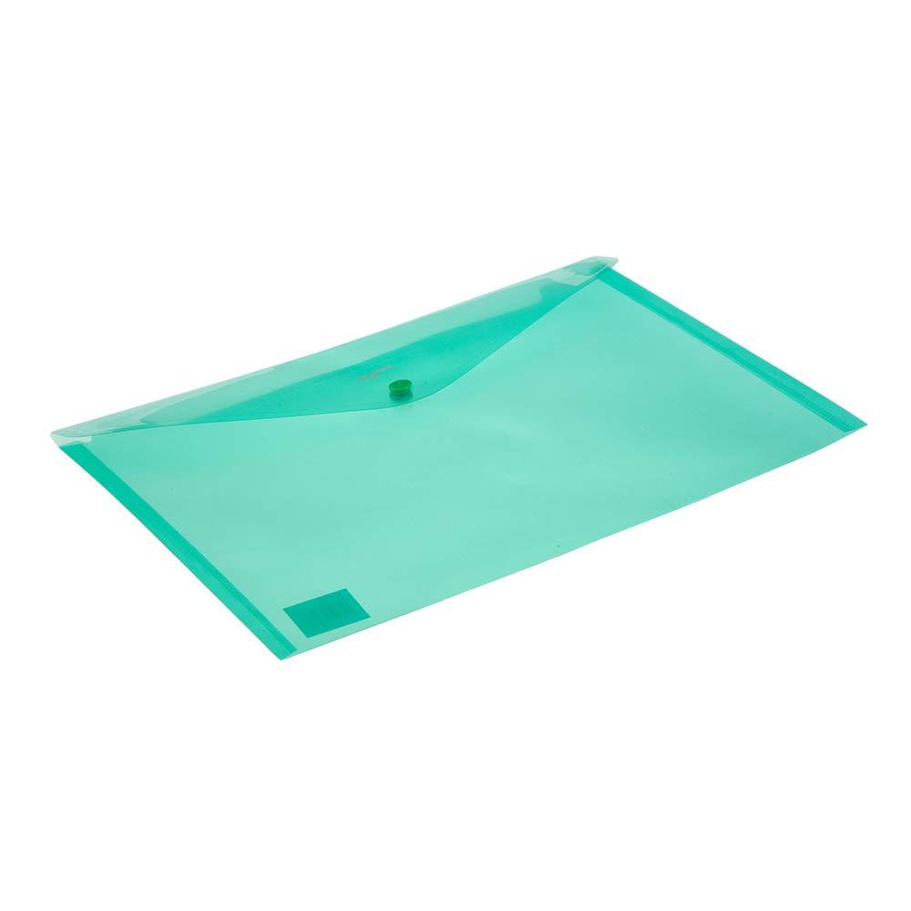 Comix Blaze A4 Popper Wallet Ducument Umschlagordner Transparente Farben 12er Pack A1853 Gr/ün