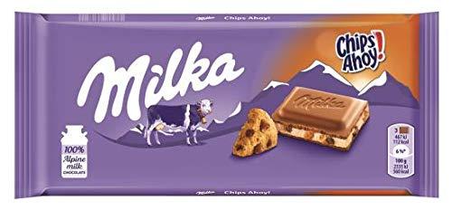 22 x Chocolade Reep Milka Chips Ahoy 100 gram