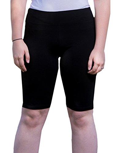 Women's Active Compression Bike Running Yoga Shorts Plus Size 2X Black
