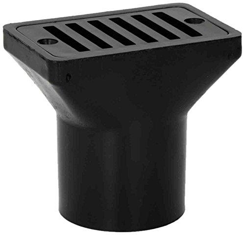 Hayward SP1019BLK Black 2-Inch Female and 2-Inch Socket Gutter Deck Drain