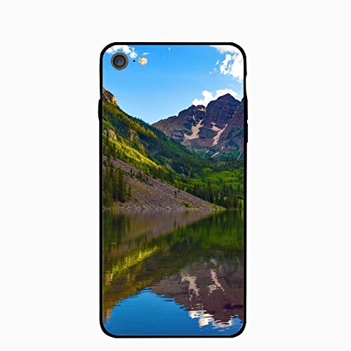 Maroon Bells Colorado USA Mountain Lake iPhone 6S Case/iPhone 6 Case Rubber Shockproof Cover Compatible with iPhone 6 / 6S