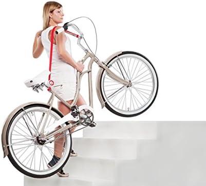 Bicicleta E-Bike cómodamente Segura Correa para Llevar tu Bicicleta Rojo Regalo perfecto: Amazon.es: Deportes y aire libre