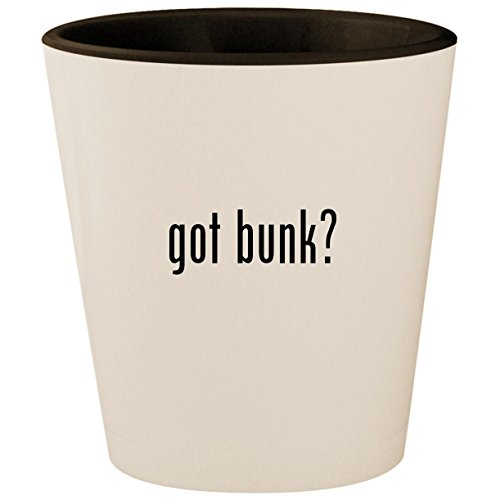 - got bunk? - White Outer & Black Inner Ceramic 1.5oz Shot Glass