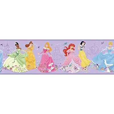 York Wallcoverings Disney Kids Dancing Princess Border