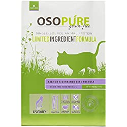 Artemis OSOPURE Limited Ingredient Formula Grain Free Dual Animal Protein & Garbanzo Dry Cat Food Salmon (for Cats), 4-LB
