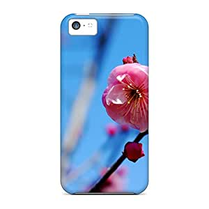 Tpu JeffMclaren Shockproof Scratcheproof Pink Flower Hard Case Cover For Iphone 5c