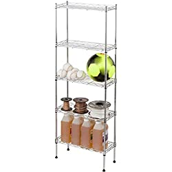 "47"" Adjustable 5-Tier Storage Shelf Unit - Steel by Trademark Innovations"