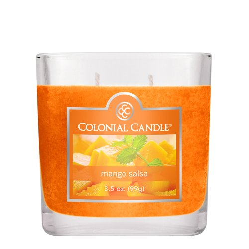Colonial 3-1/2-Ounce Scented Oval Jar Candle, Mango Salsa
